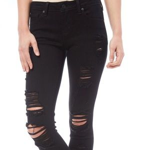 Just Black New Destroyed Skinny Jeans sz 27